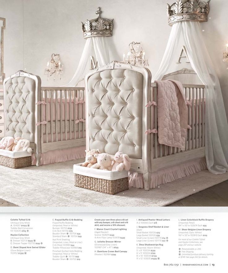 2013 Fall Catalog | Restoration Hardware Baby & Child glamour twin nursery!