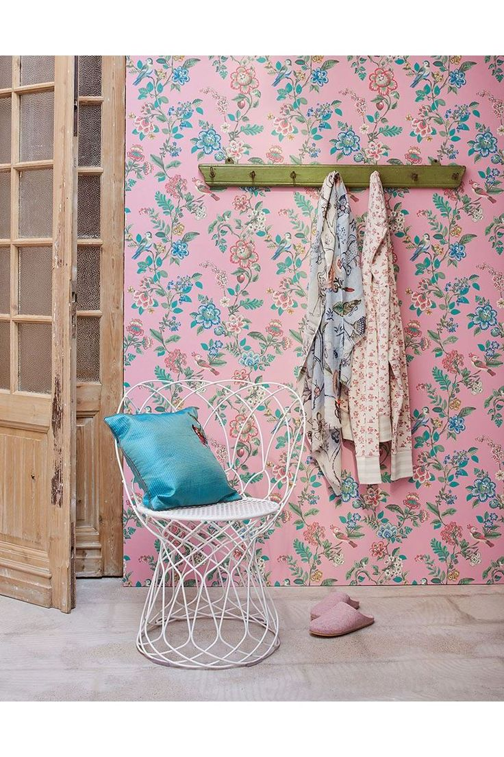 Pip Studio the Official website - Botanical Print wallpaper soft pink