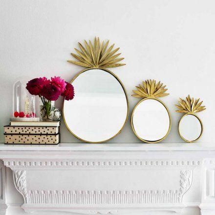 spiegel set ananas 3teilig - Kopfteil Plant Knig
