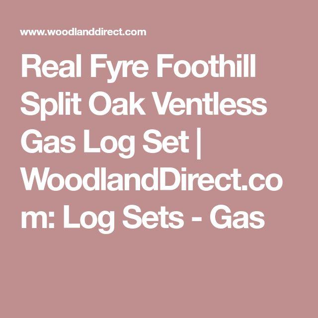 Real Fyre Foothill Split Oak Ventless Gas Log Set   WoodlandDirect.com: Log Sets - Gas