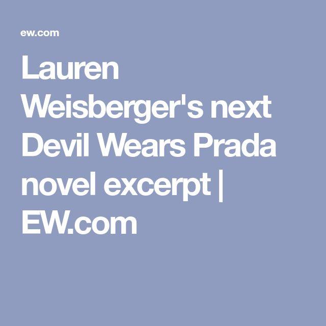 Lauren Weisberger's next Devil Wears Prada novel excerpt | EW.com
