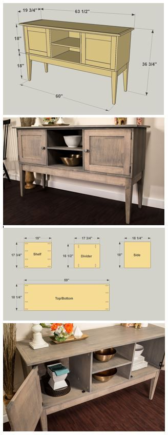 DIY Classic Dining Room Sideboard :: At buildsomething.com, you'll find FREE PLANS for great projects that are organized by space and by type, which makes it really easy to find the inspiration you want, plus the step-by-step instruction you need to turn that inspiration into reality.