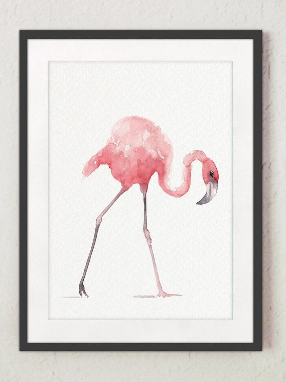 Flamingo Whimsical Art Print Set of 4. Pink Kids Nursery Room Decor Abstract Poster. Feather Painting Animal Watercolor Tropical Birds Decor. A price is for the set of 3 different Flamingo Art Prints and a Pink Feather Art Print as shown on the first photo. Type of paper: Prints up