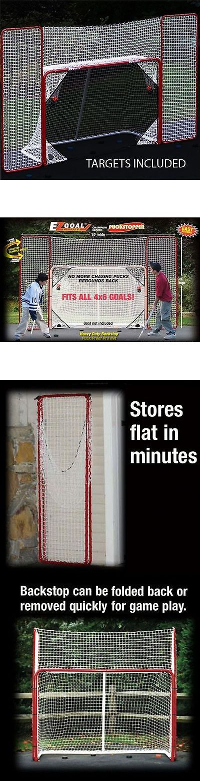 Goals and Nets 165936: Hockey Goal Backstop Net Kit Practice Shooting Puck Ball At Target Outside Nhl -> BUY IT NOW ONLY: $80.64 on eBay!
