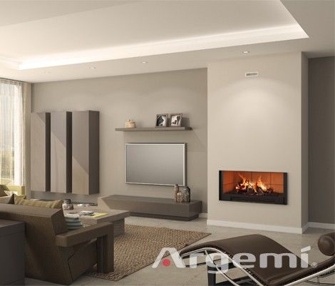 chimeneas modernas interiores futura casa marmol hogares calor comedor