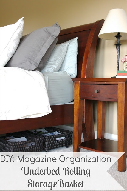 Organize it underbed storage solution use bigger baskets to utilize all the underbed