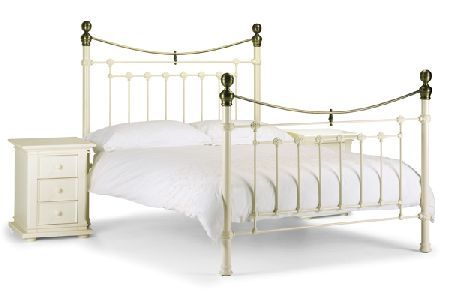 Bedworld Discount Victoria White Bed Frame Single 90cm The Victoria is a classic bed frame with very traditional roots. It is available in a white stone finish with real brass detailing and finials. High Foot End version. Does not come supplied  http://www.comparestoreprices.co.uk/bedroom-furniture/bedworld-discount-victoria-white-bed-frame-single-90cm.asp