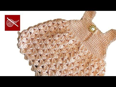 Crochet Baby Dress I think I know a little girl who needs one of these. Of course with some added Miss Jess touched. Maybe grey and yellow with a flower or two and a matching diaper cover! Hmmmmm now to find time to make it!