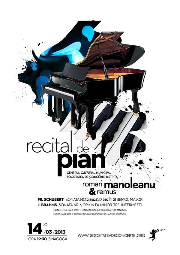 Posters for classical music concerts by Mihai Tarmure, via Behance