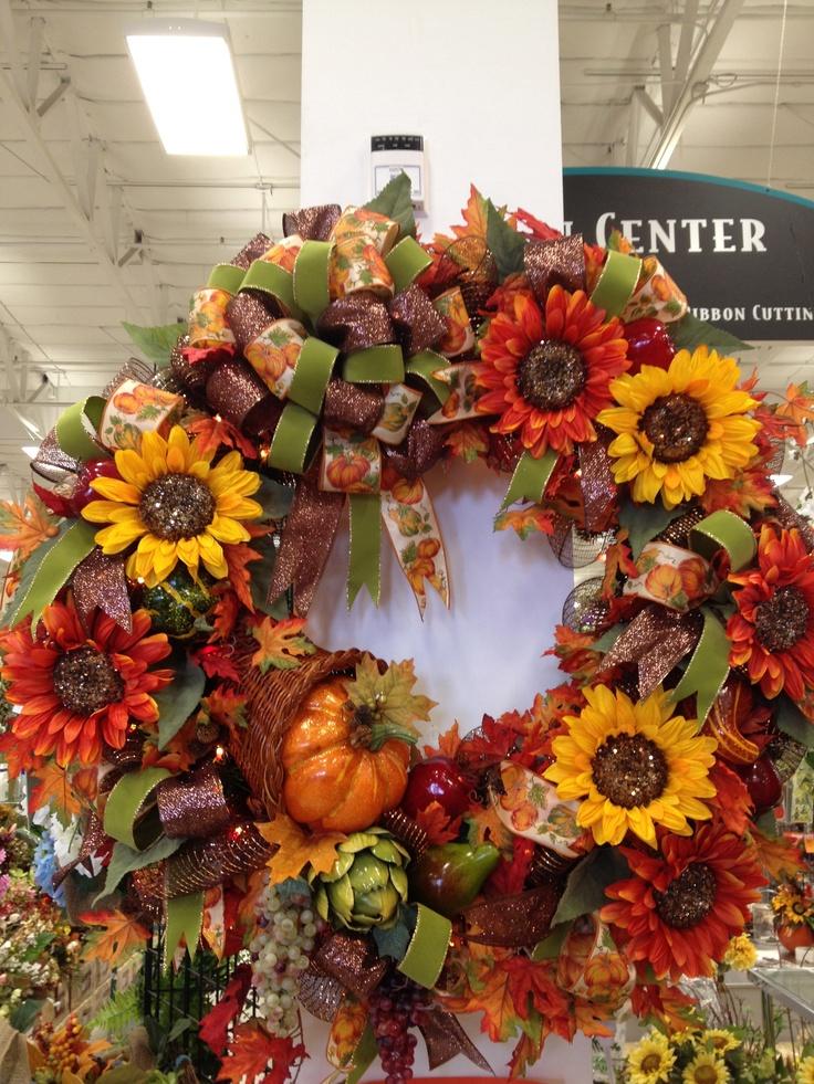 thanksgiving wreath watercolor