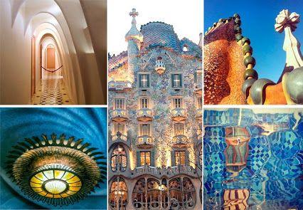 Casa Batlló -                                               Construida entre 1904 y 1906 bajo el encargo de Josep Batlló, la Casa Batlló es la obra maestra de Gaudí, una pieza clave de la arquitectura modernista.