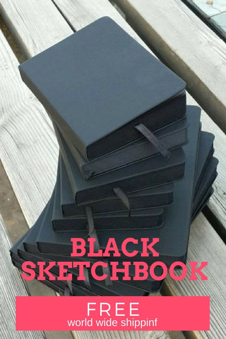BLACK Papers Sketchbook!  FREE World Wide Shipping & 15% discount for all of our products!  Hard cover and thick black papers.