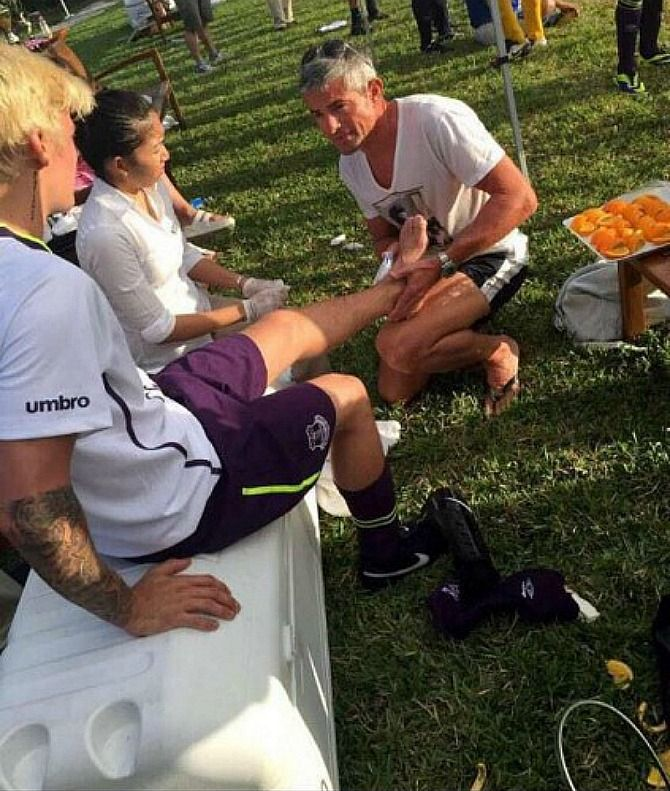 #JustinBieber broke his foot playing soccer in Turks and Caicos