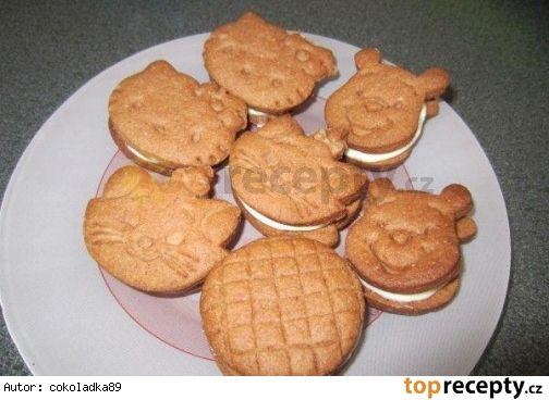 Delikatesní sušenky s mléčnou náplní