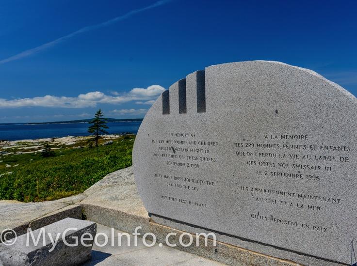 Swissair flight 111 memorial in Peggy's Cove, Nova Scotia