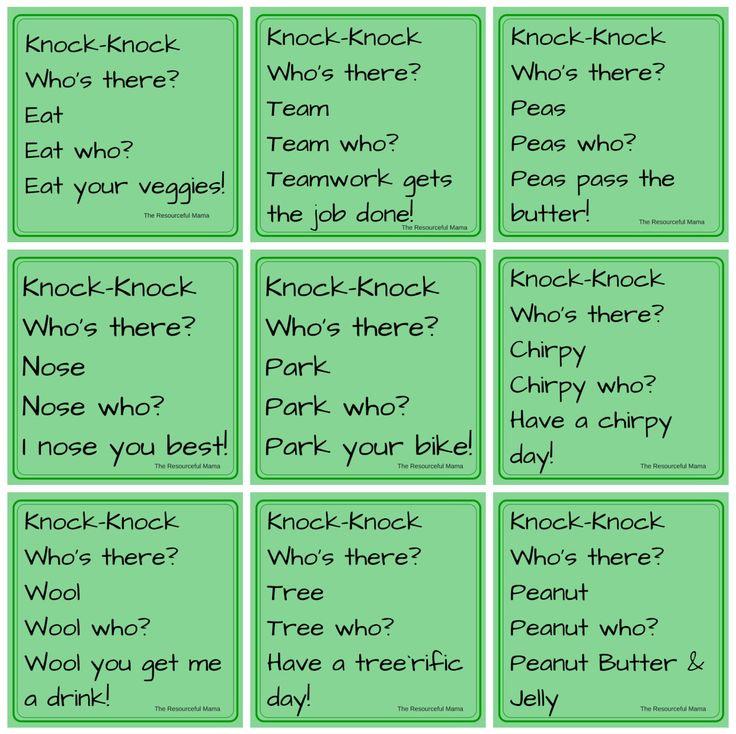knock-knock jokes for kids~FREE PRINTABLE