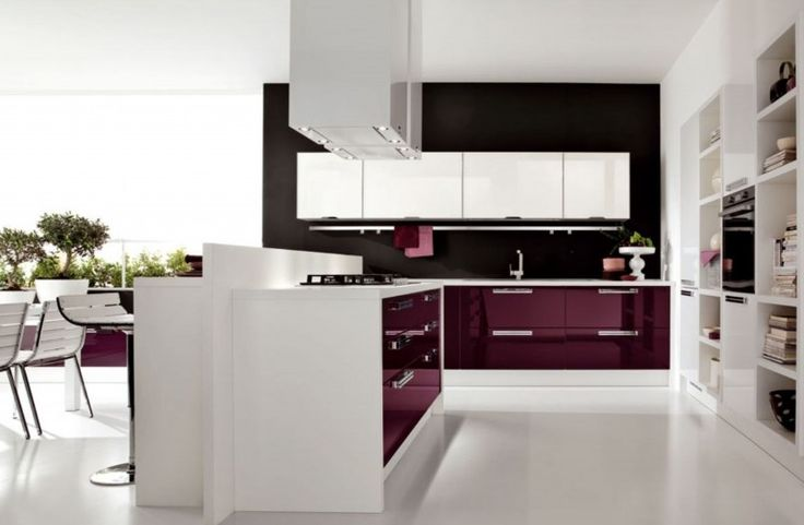 Ideas 2015 Modern Kitchen Design Ideas Black Red And White High Gloss Kitchen Cabinet Cabient Island Stainless Steel Refrigerator White Porcelain Floor Stylish Bar Stool White Mini Bar Table Stainless Steel Utnsil Handler 22 Modern Kitchen Trend Layout With Stylish Cabinet Ideas