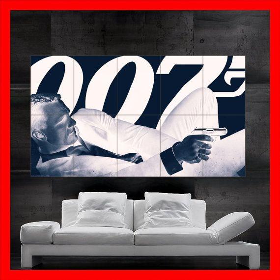 James Bond 007 Daniel Craig Retro Style Poster art 10 parts huge giant large print wall & 118 best James Bond images on Pinterest | James du0027arcy Artists and ...