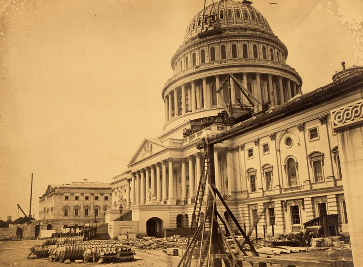 Rare Stunning 1863 Photo Of Capitol Building
