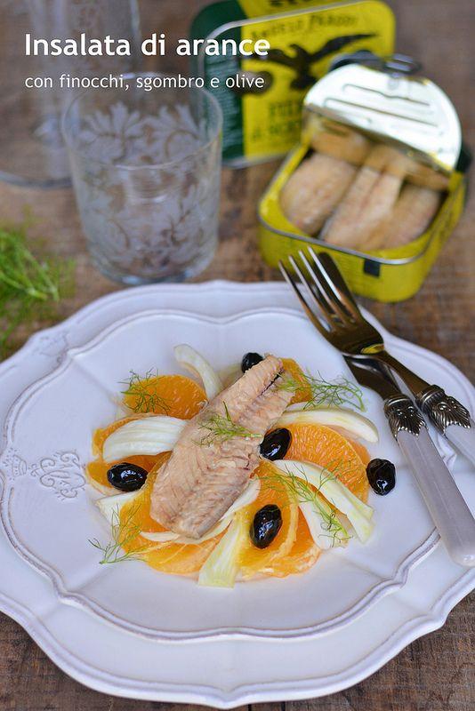"""La mia prima ricetta del mese di dicembre coincide con una interessante iniziativa che mi vedrà ospite del blog """"Angelo Parodi"""" per l'intero mese. Da oggi e per ogni settimana, fino alla fine di dicembre, preparerò gustosissime ricette con i prodotti dell'azienda.  Oggi si parte con una ricetta facile e leggera: insalata di arance e finocchi, servita con un filetto di sgombro. Ingredienti: 2 arance 1 finocchio 2 cucchiaiContinua a leggere..."""