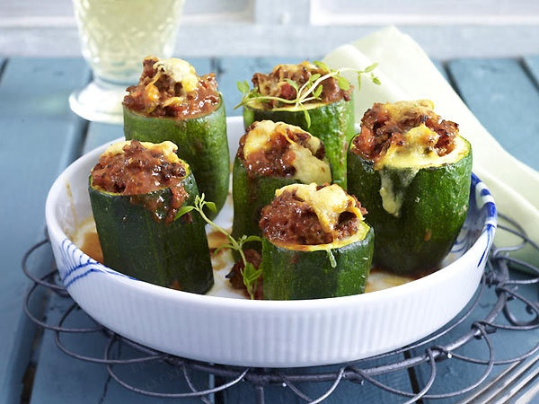 ... try my grandmother's stuffed bell pepper but sub the zucchini instead