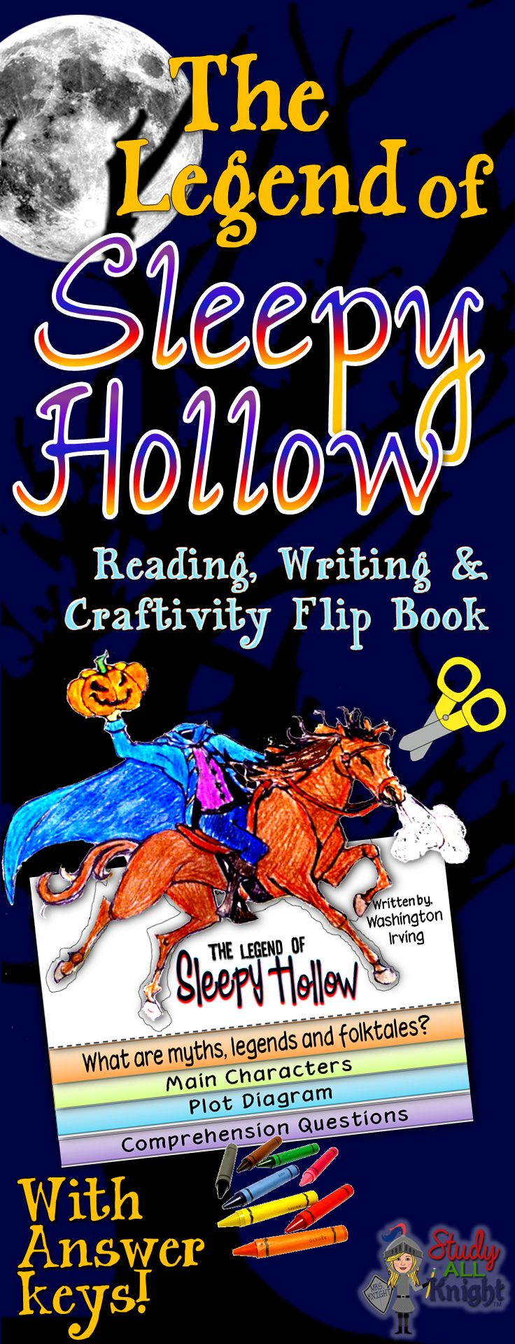 Book report example: The Legend of Sleepy Hollow by Washington Irving