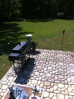 Awesome Patio Done With Concrete Mold (QUIKRETE Country Stone Walk Maker Concrete  Mold) A 80lb