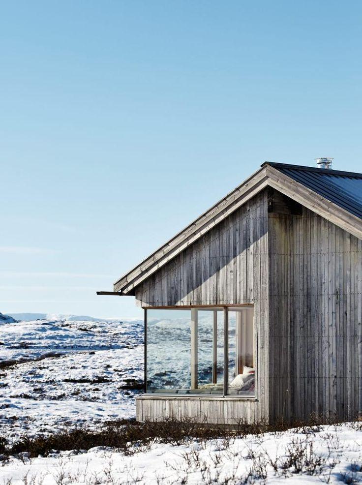 Hytte i Ål _ Vinduene er i kjerneved, malmfuru, fra Solfjelds møbelfabrikk _ Torbjørn Tryti i taktil