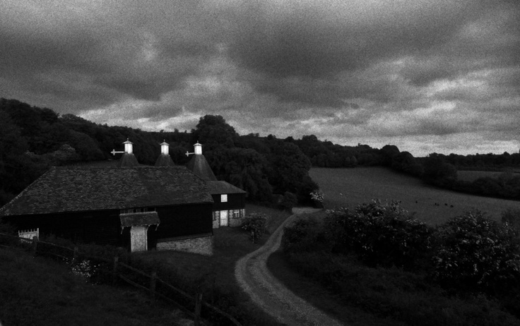 View of a traditional Kentish barn and Oast House at National Trust owned Outridge Farm, Kent. Taken by National Trust Bunkhouse Ranger Alexandra Jenks.