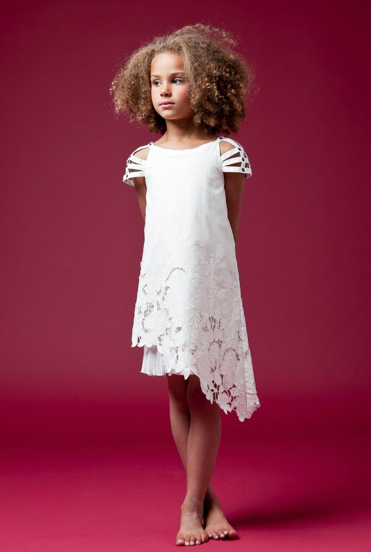 Junior Gaultier beautiful cut lace dress for children's fashion summer 2012