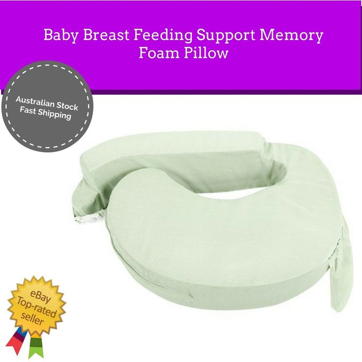 NEW Breast Feeding Pillow Wrap Around Support Memory Foam Washable Cover Baby