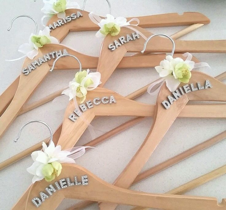 Personalised Custom 3D Wooden Wedding Bridal Bride Coat Hanger Mrs Silver Bling