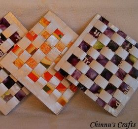 How to make Milk Carton Coasters - DIY Craft Project with instructions from Craftbits.com