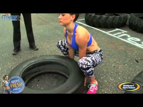 54 x 21 flipping tire workouts for women