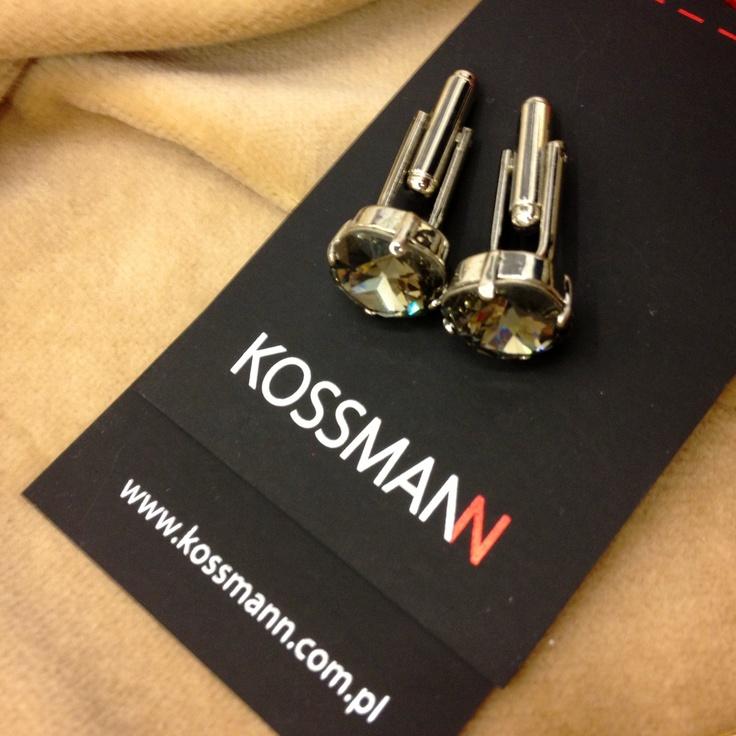 #cufflinks #spinki #bizuteria #akcesoria #dodatki #accessories #kossmann #fashion #swarovski elements