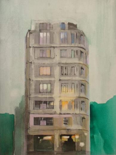 Graham Chorlton, Apartment, Acrylic on canvas, 120cm x 90cm