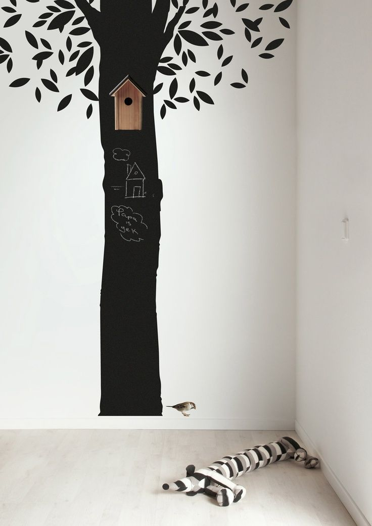 trees in kids room   #home #wall #interior