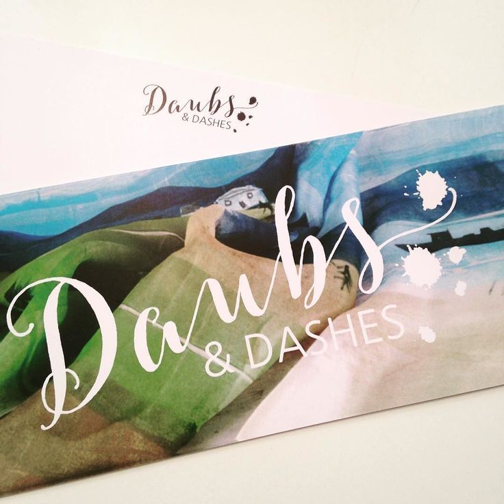 Colourful comp slips for Daubs & Dashes. New up and coming business. #great quality #smallbusiness #daubsanddashes #pretty #originalart #silkscarves #stationaryaddict