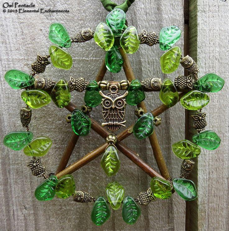 Magick Ritual Sacred Tools:  #Hanging #Pentacle.