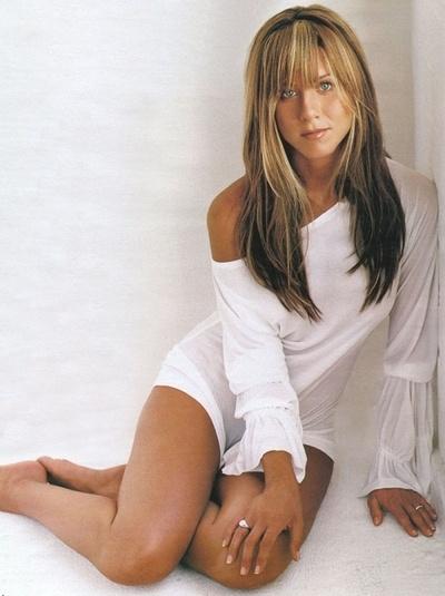 Jennifer Aniston. I still think she's pretty regardless of age. She'll always be the Rachel Green.