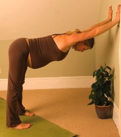 Pre-Natal Yoga: An Easy Sequence to Do at Home. Oh wait, this was the asana that felt fantastic while on my third trimester. So relieving.