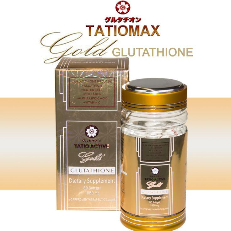 NEW Tatiomax Gold Glutathione Whitening Gel Capsules With 1850mg Formula!