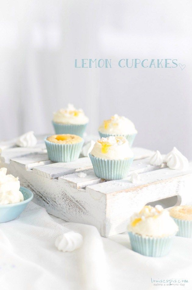 Lemon Cupcakes with Meringues and Lemon Cream Cheese Frosting Recipe