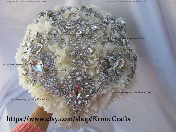 full price Wedding brosche bouquet Brooch Bouquet. by KroneCrafts #affiliate