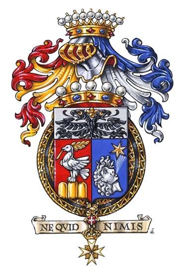 Arms of Knight Grand Cross in Obbedience of the Sovereign Military Order of Malta