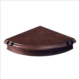 """Colonial Corner Pub Shelf. Add a touch of ingenuity to your game room with this space-saving corner pub shelf. Measures 18"""" D. Available in chestnut or cherry finishes. http://www.BilliardFactory.com/Colonial-Corner-Pub-Shelf"""