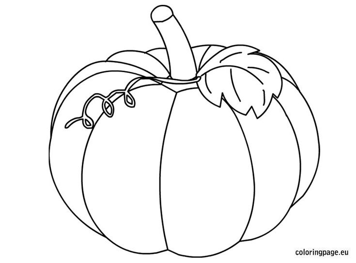 pumpkin and leaves coloring pages - photo#22