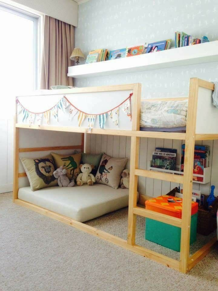 Most Current Photo Furniture Feet For Ikea Kallax Shelf Suggestions An Ikea Youngsters Space Continues Girls Bedroom Bedding Toddler Rooms Toddler Bedrooms
