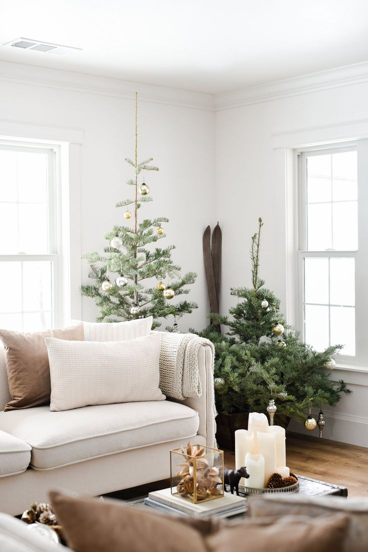 Simple farmhouse Christmas decorating •boxwoodavenue.com