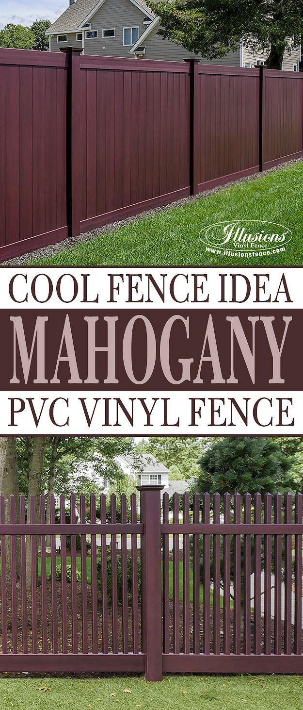 15 Fantastic Mahogany Illusions Pvc Vinyl Fence Images Illusions Fence Backyard Fences Backyard Fence Decor Vinyl Fence